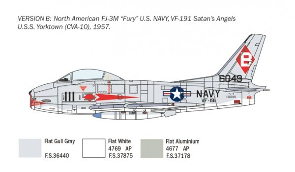 Italeri 2811 North American FJ-2/3 Fury 1/48