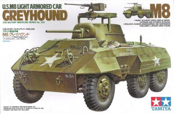 "Tamiya 35228 U.S. M8 Light Armored Car ""Greyhound"" (1:35)"