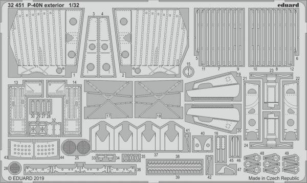Eduard 32451 P-40N exterior 1/32 TRUMPETER