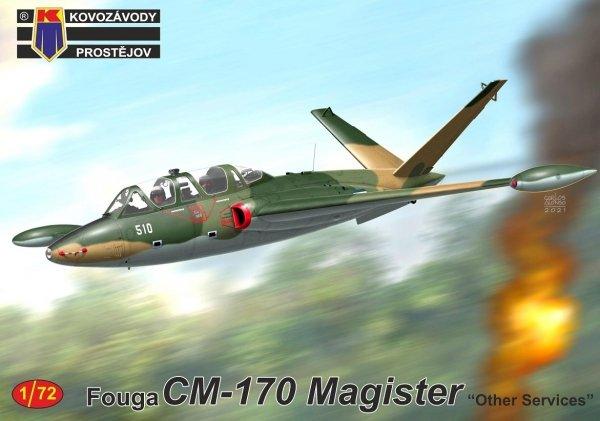 """Kovozavody Prostejov KPM0244 Fouga CM-170 Magister """"Other Services"""" 1/72"""
