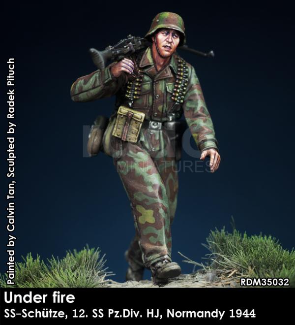 RADO Miniatures RDM35032 Under fire. W-SS MG Schütze, 12. SS-Pz.Div. HJ, Normandy 1944 1/35