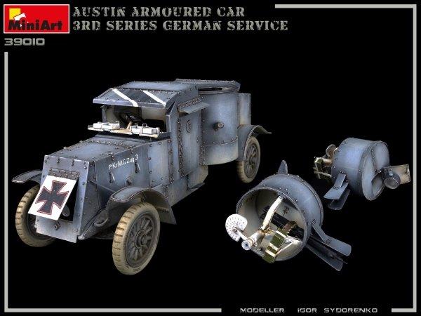 Miniart 39010 AUSTIN ARMOURED CAR 3rd SERIES: GERMAN, AUSTRO-HUNGARIAN, FINNISH SERVICE. INTERIOR KIT 1/35