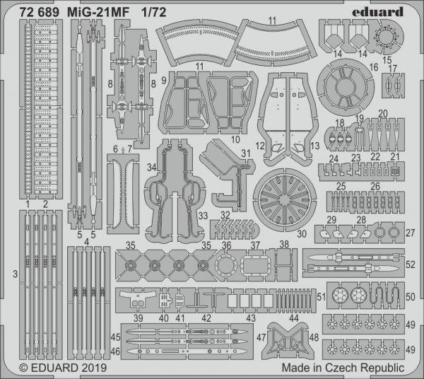 Eduard 72689 MiG-21MF 1/72 EDUARD