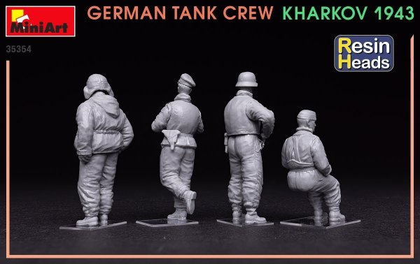 MiniArt 35354 German Tank Crew Kharkov 1943 (Resin Heads) 1/35