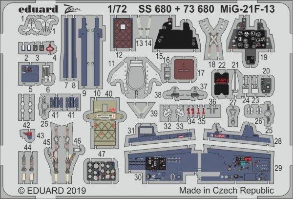 Eduard SS680 MiG-21F-13 1/72 MODELSVIT