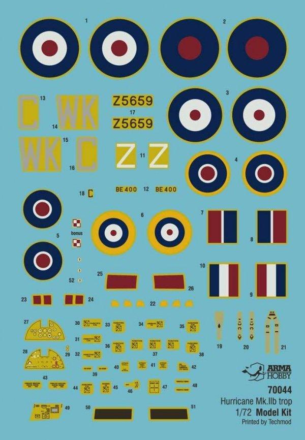Arma Hobby 70044 Hurricane Mk II B Trop Model Kit 1/72