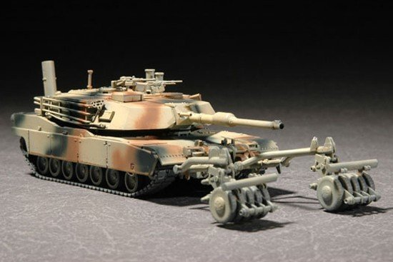 Trumpeter 07278 M1A1 with Mine Roller Set (1:72)