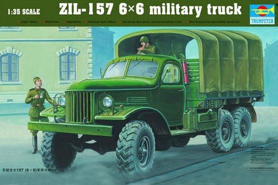 Trumpeter 01001 ZIL-157 6x6 military truck (1:35)