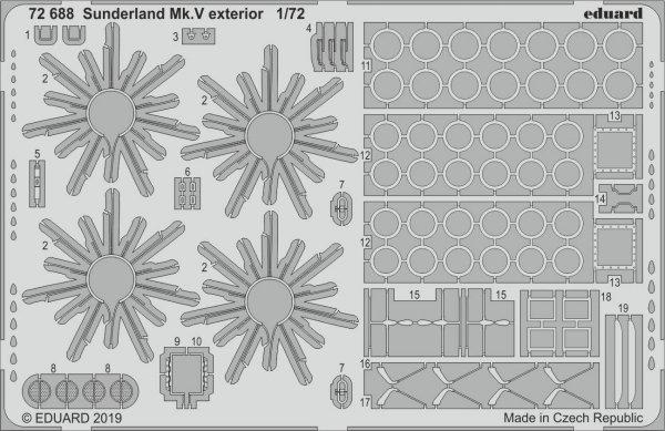 Eduard BIG72150 Sunderland Mk. V 1/72 SPECIAL HOBBY