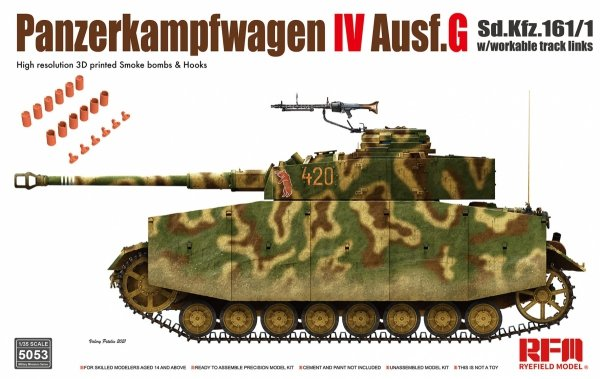Rye Field Model 5053 Panzerkampfwagen IV Ausf. G Sd.Kfz. 161/1 w/with workable track links 1/35
