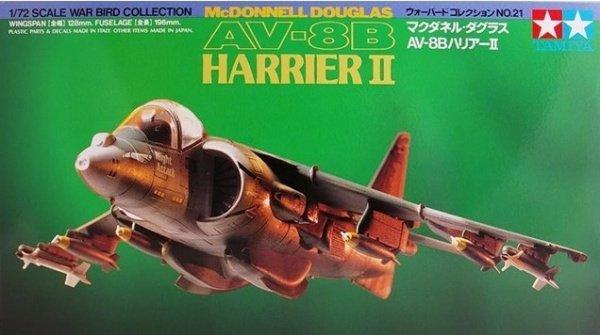 Tamiya 60721 McDonnell Douglas AV-8B Harrier II 1/72