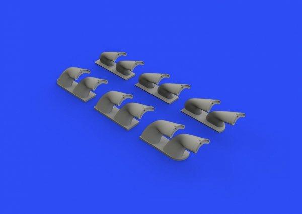 Eduard 632139 P-40 exhaust stacks fishtail 1/32 HASEGAWA