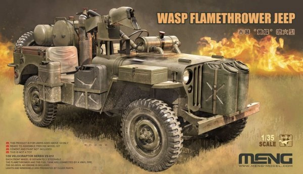 Meng Model VS-012 WASP Flamethrower Jeep 1/35