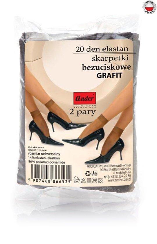skarpetki ELASTAN woreczek - grafit