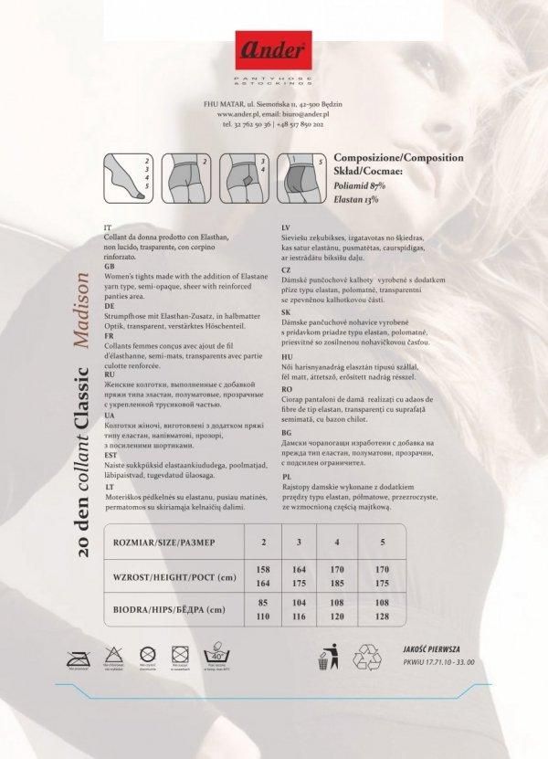 rajstopy MADISON - bianco