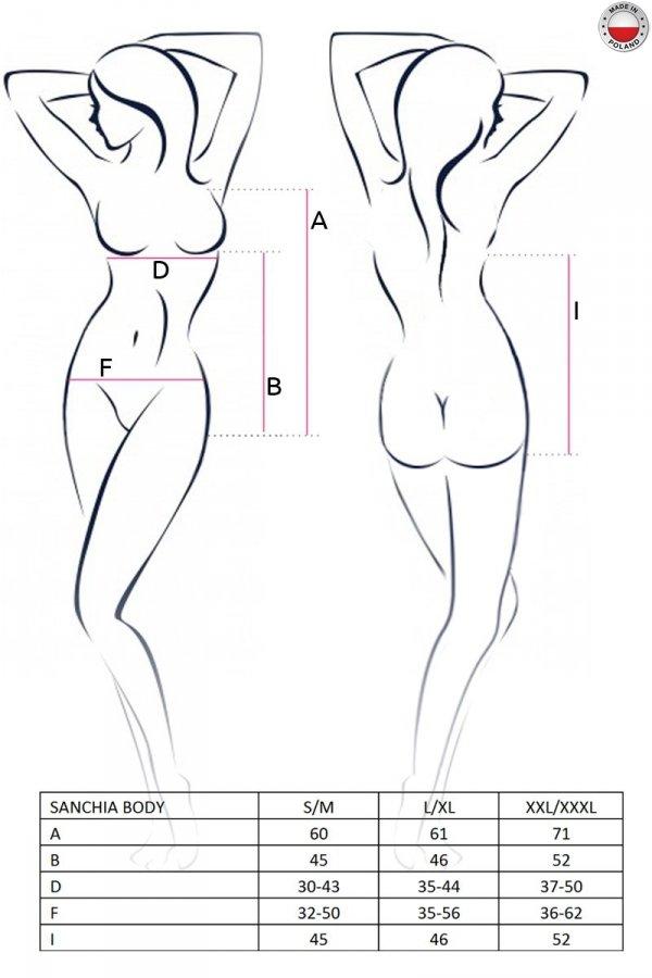 SANCHIA BODY czarne body