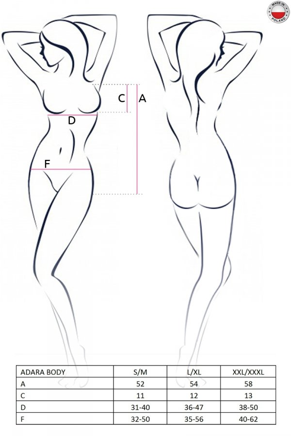 ADARA BODY czarne body