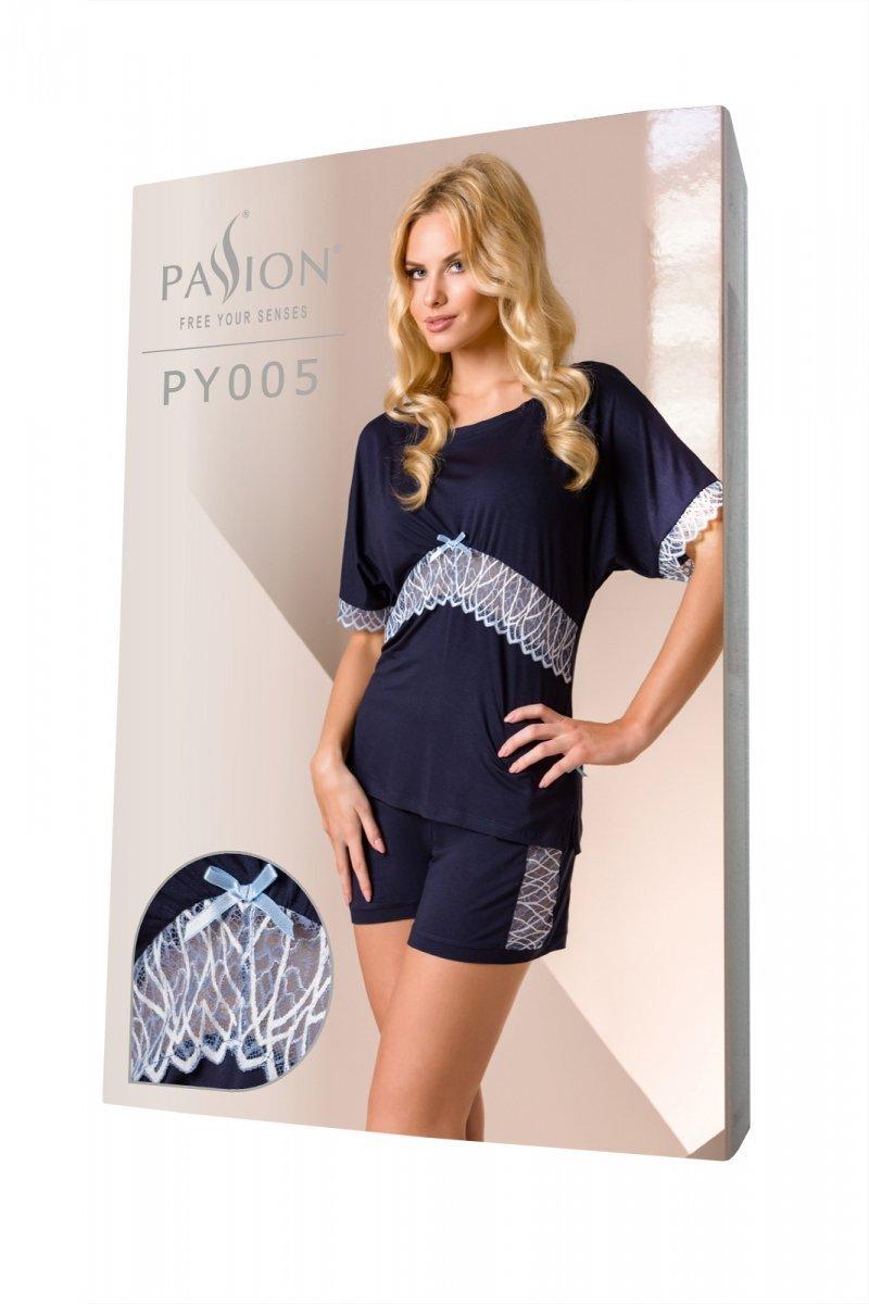 PY005 granatowa piżama damska