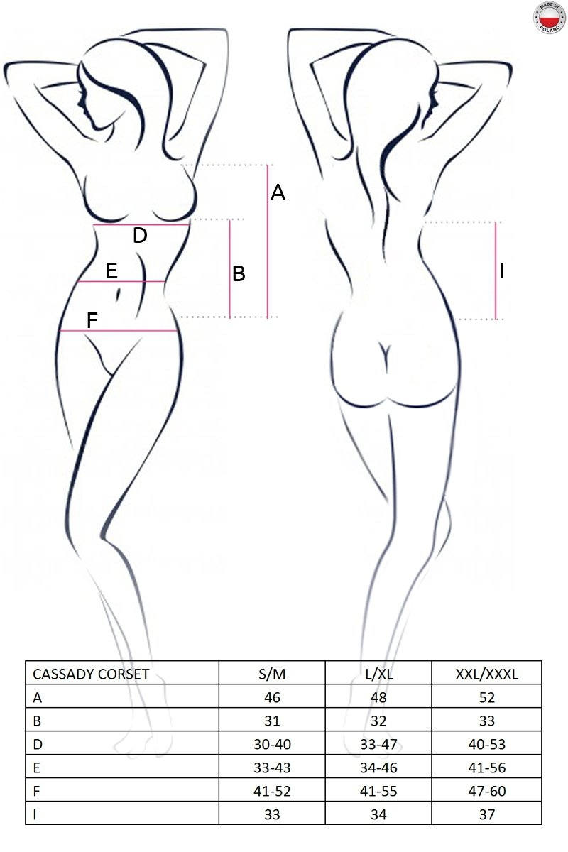 CASSADY CORSET kremowy gorset
