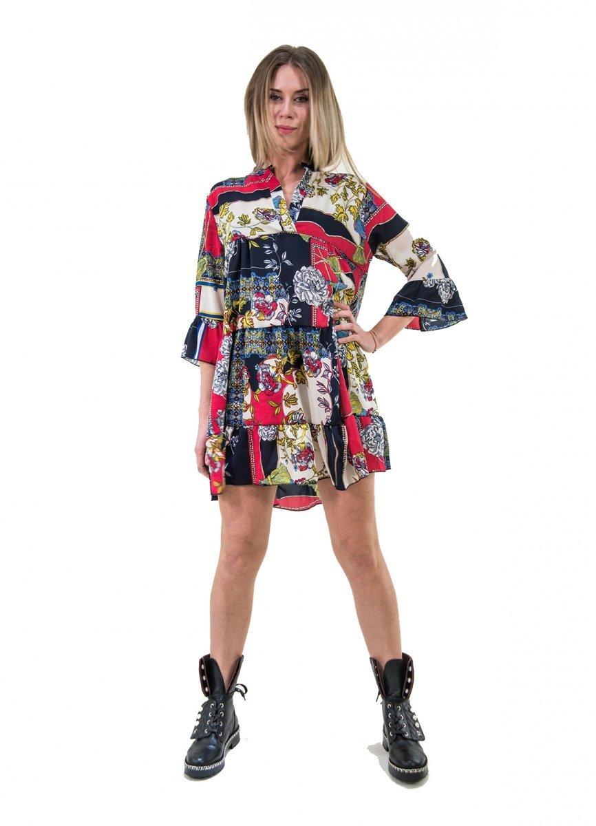 size 40 f3181 23d4d Vestini Fantasia - Vestito corto - Abitino manica lunga - Vestitini donna
