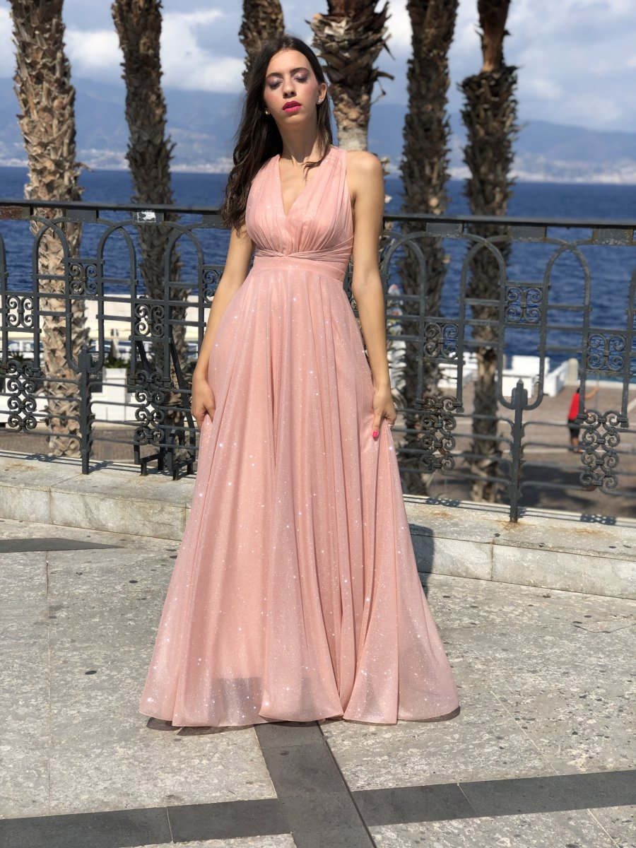Vestiti Eleganti Rosa Antico.Abito Lungo Rosa Vestito Lungo Rosa Antico Online Gogolfun It