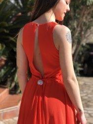 Abito donna - Roberta biagi - Vestito rosso corto