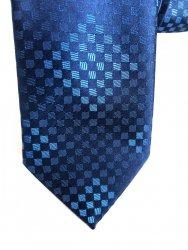 Cravatta - Uomo - Blu -Rombi - pois