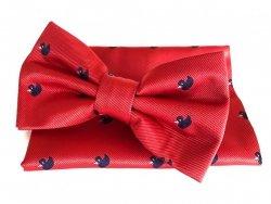 Papillon Rosso - Paperella Blu - Pochette - Papillon uomo