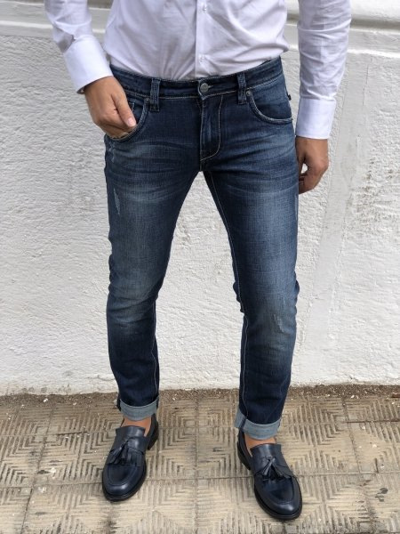 Jeans uomo, strappato - Key Jey,  modelloSkinny - Gogolfun.it