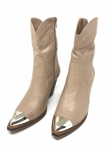 Stivali texani beige chiaro - Texani corti - Negozio gogolfun.it