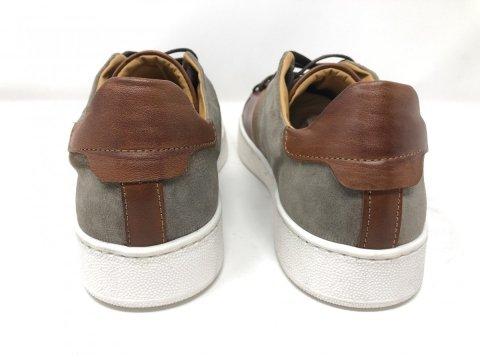Buty męskie skórzane - Zamszowe - Sneakersy - Made in Italy - gogolfun.pl