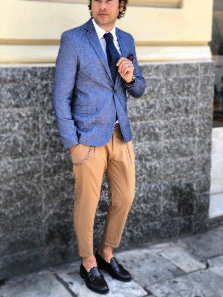Giacca uomo  blu, particolare - Abbigliamento uomo gogolfun.it