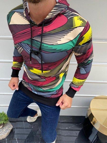 Felpa con cappuccio - Hoodie, colorata e slim - Streetwear - Felpe uomo Gogolfun.it