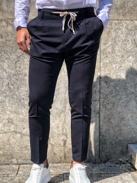 Pantaloni eleganti - Pantaloni blu - Uomo - Gogolfun.it