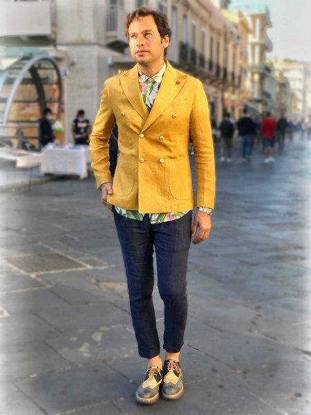 Paul Miranda - Giacca doppiopetto gialla - Abbigliamento Paul Miranda - Gogolfun.it