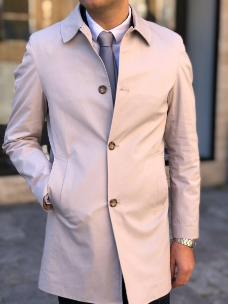 Trench uomo blu - Paul Martins - Made in Italy