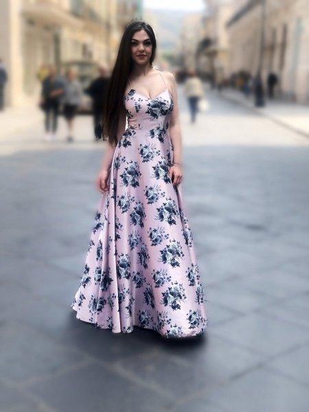 Cerimonia donna - Abiti eleganti - Vestito lungo rosa - Gogolfun.it