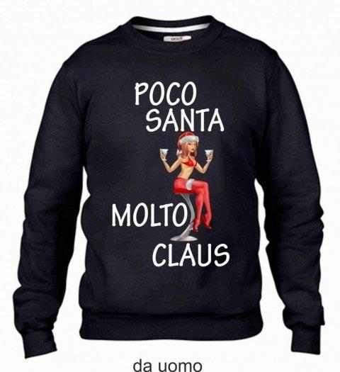 Felpa nera, natalizia - Santa claus - Gogolfun.it