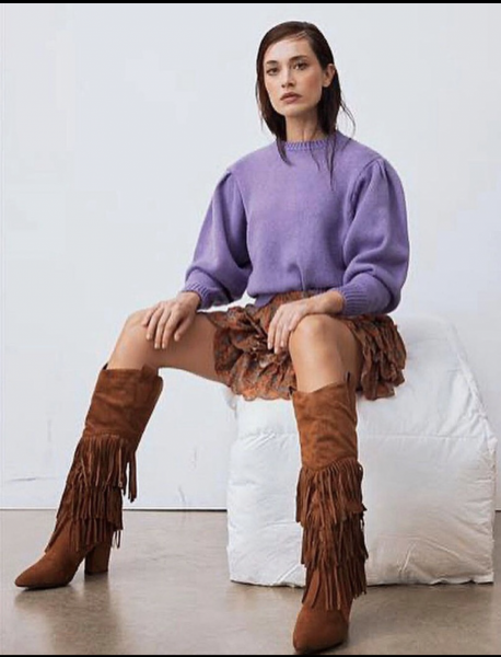 Texani, alti - Texani con frangie - Stivali texani - Scarpe donna - Gogolfun.it