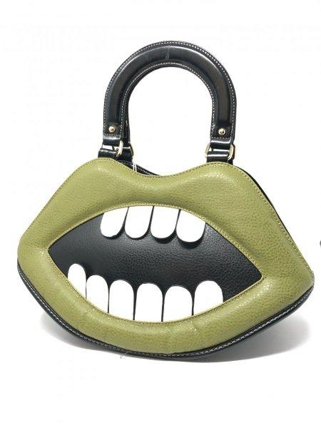Borsa verde a forma della bocca -  Borse particolari - Gogolfun.it