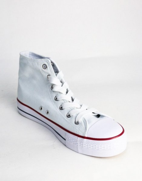 Sneakers uomo - Simil Converse - Bianche - Goglfun.it