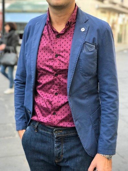 Paul Miranda - Giacca uomo - Sfoderata - Blu