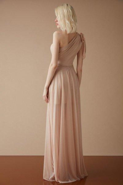 Vestiti eleganti rosa - Schiena scoperta - Gogolfun.it