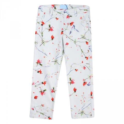 Pantaloni bambina, bianchi fantasy - Lanvin - Abbigliamento bambini - Lanvin