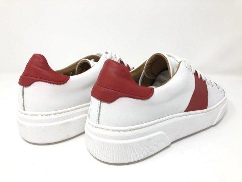 Sneakers - Sportowe buty męskie - kolor biały - Skórzane - Sklep online - Gogolfun.pl