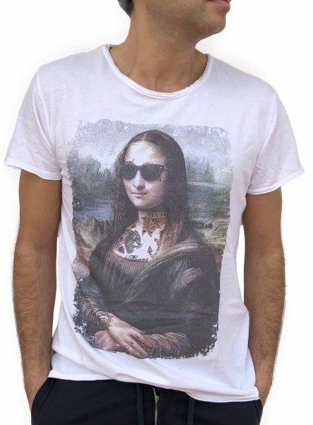 T-shirt uomo - t shirt divertente - Maglietta Monnalisa smile - Gogolfun.it