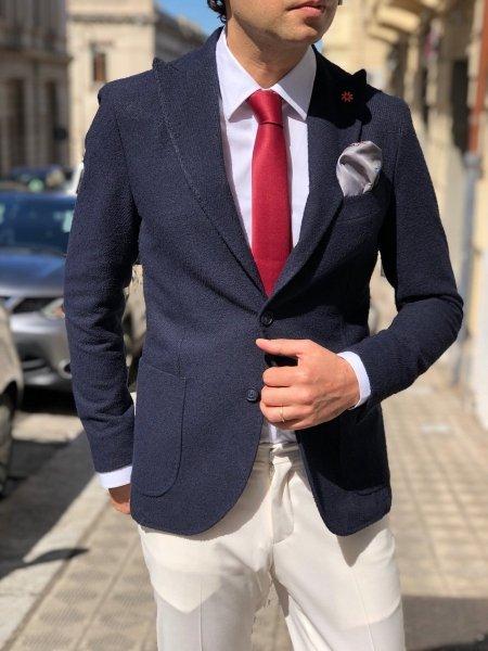 Giacca uomo particolare, blu - Paul Miranda - Gogolun.it