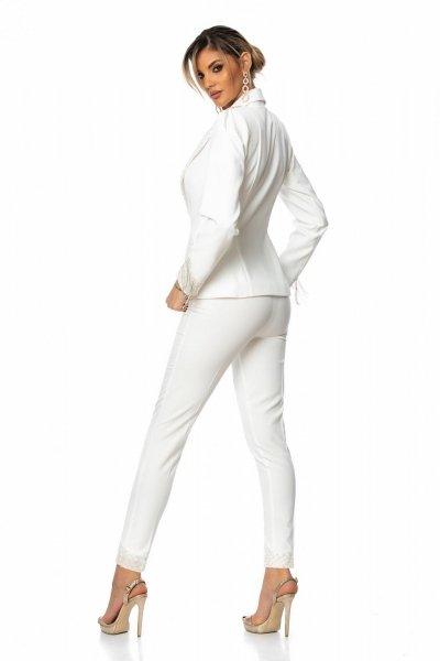 Tailleur bianco - Elegante - Con aplicazioni