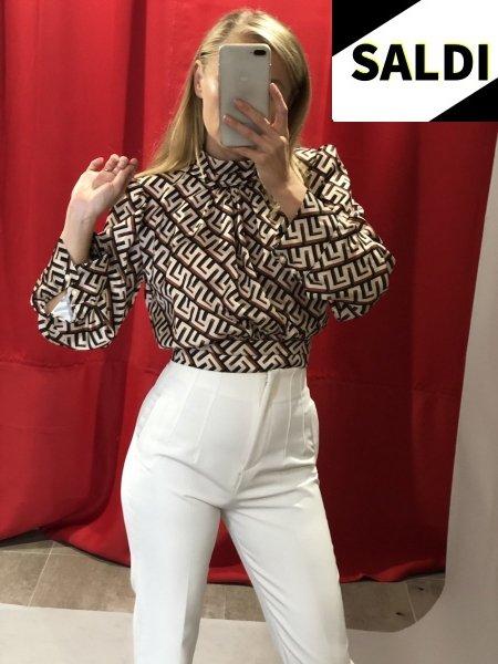 Camicia donna - Elegante - Corta - Marrone - Abbigliamento donna - Gogolfun.it