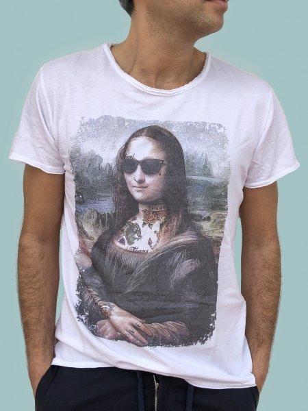 Maglietta vintage con stampa - T shirt bianca Monnalisa - Gogolfun.it